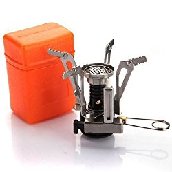 Mini Camping Stove  This little guy is cheap, compact, light-weight, and just plain convenient! Sometimes you don't want to take the time to construct and put out a camp fire. Sometimes you can't legally  have  a campfire. This is perfect for such occasions.
