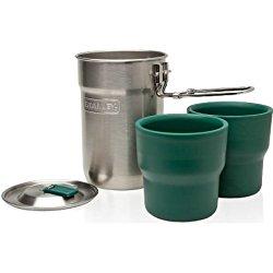 Camping Cook Set  When it comes to boiling water, coffee, tea, or just mixing your drinks, this set does the trick
