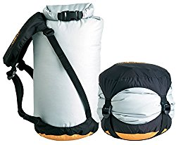 Compression Sack  Clothes will probably take up the majority of your space. This air-tight bag will press your clothes into a more tight-fit manageable size.