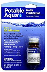 Iodine Water Purification Tablets  Sometimes you have no time to boil water. This can do the trick as well.