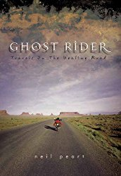 Ghost Rider: Travels on the Healing Road-Neal Peart - Neal Peart, is the drummer and lyricist of the progressive rock band Rush. In the mid 1990s, Neal was hit by tragedy when he had lost his daughter to a car crash and his wife to cancer.Alone and now without a family, Neal lost joy in everything from meeting with friends and family to even drumming. Riding around on a motorcycle, however, seemed to give him peace.He decided he would take his bike wherever he felt he could go. With no time or schedule constraints, Neal rides up the Pacific coast to Northern British Colombia and all the way South to Belize through Mexico.His style of writing is very chummy yet sophisticated with a broad and descriptive vocabulary. It's a story of how a man who could 'have it all' deals with depression at the deepest level.