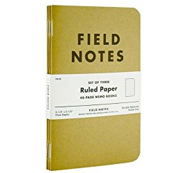 Field Note Journals  These little books are very handy but for me they're mostly a thing of habit. I put directions in them as well as phone numbers and names of locations I know I'll need in areas without cellphone reception. I also jot down lists of attractions I want to visit in their order of proximity. I like to revisit them sometimes. I've kept all of them.