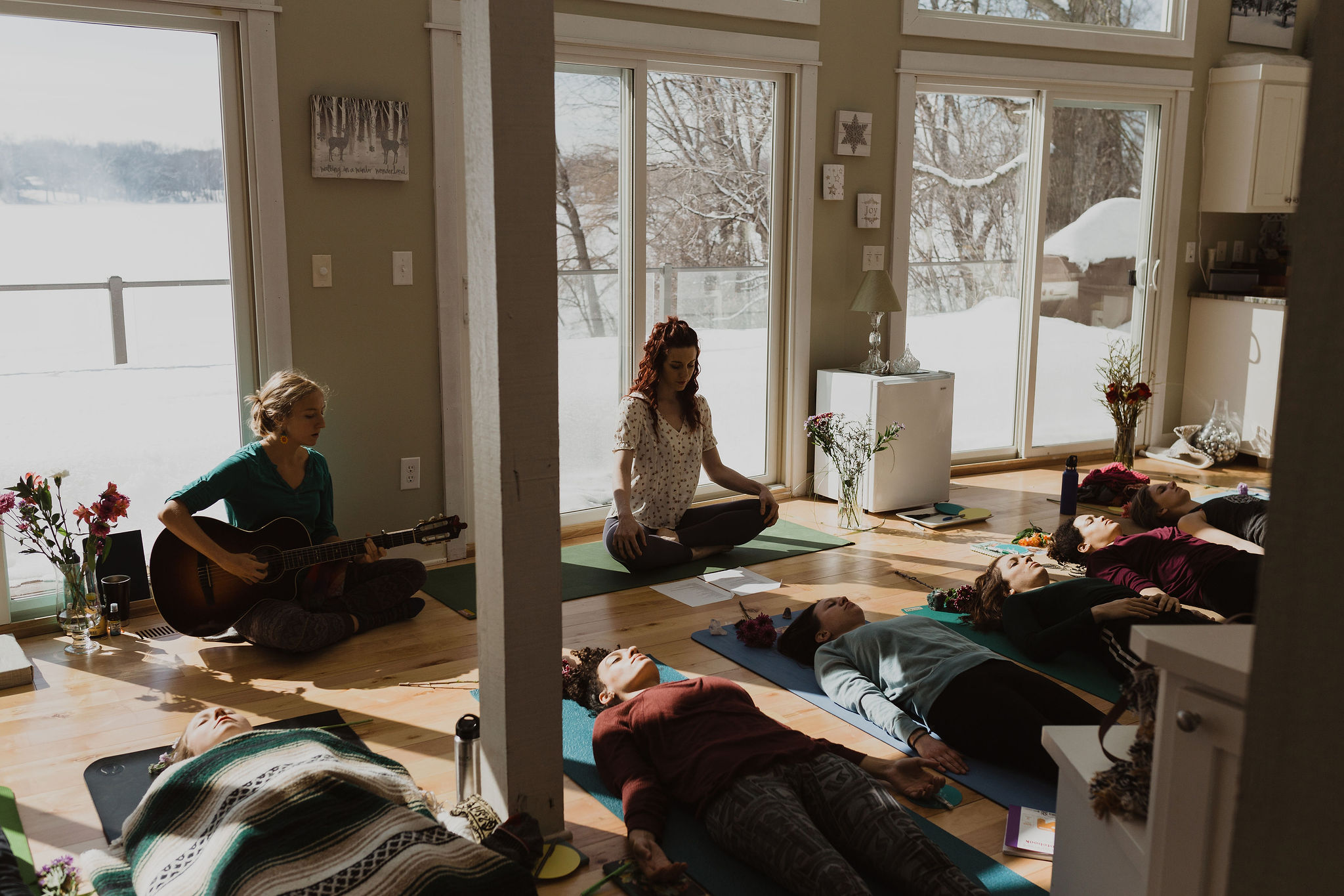 Book a private yoga class with live music in the Twin Cities, Minnesota