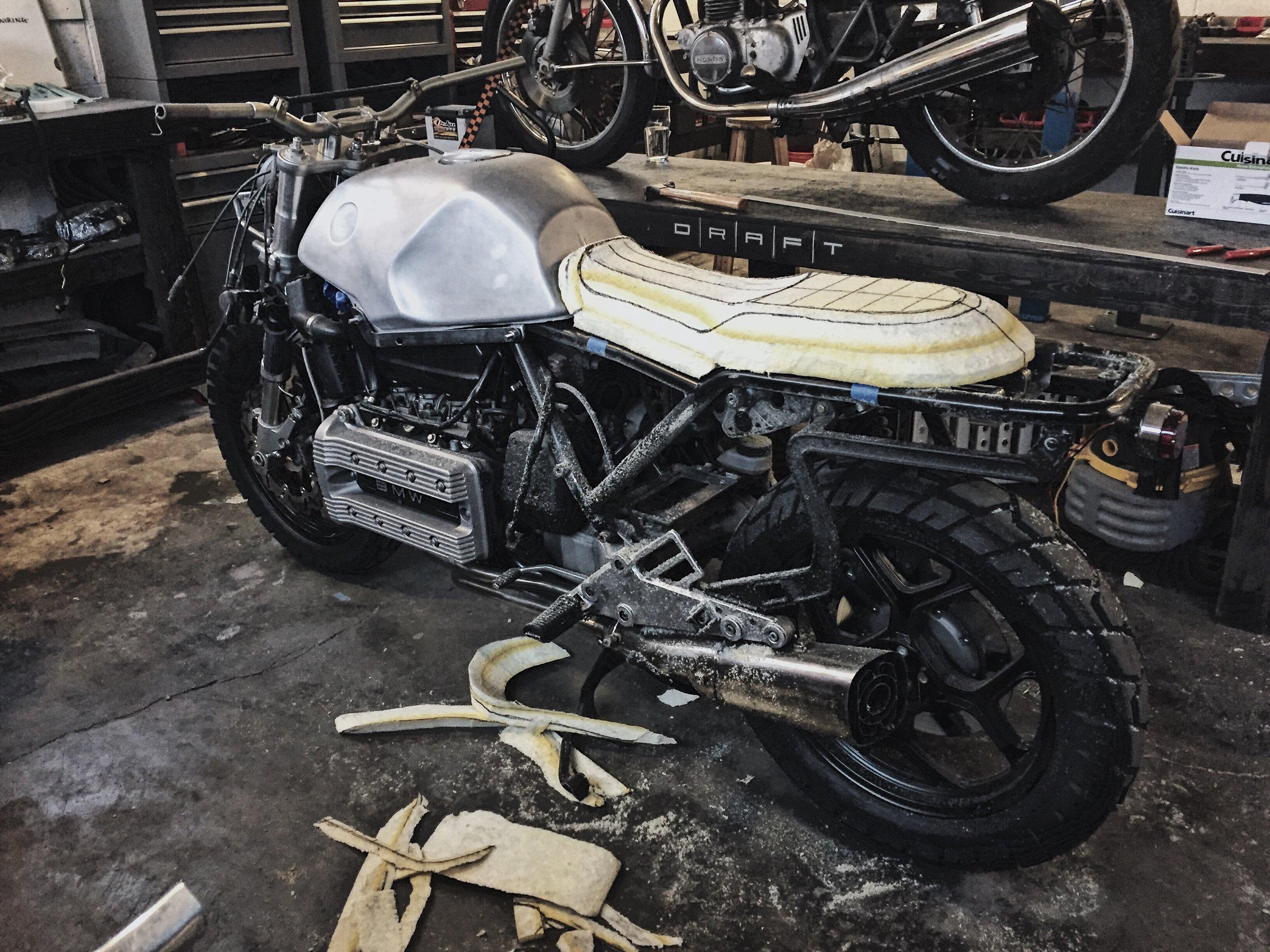 Custom Motorcycle Seat Foam Carving_Moto-Mucci 8