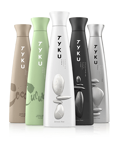 TYKU Premium Junmai Ginjo, TYKU Cucumber Junmai, TYKU Coconut Nigori