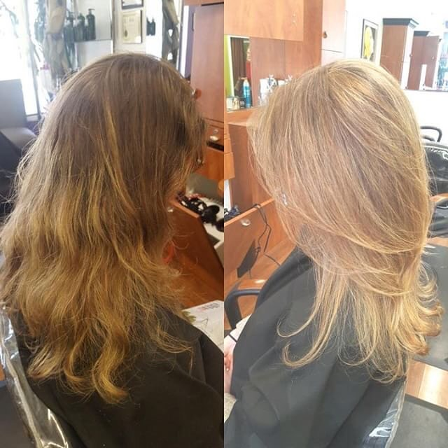 Beautiful highlights, cut and style. Let us freshen up your look too! Call to make an appointment today! Artistry by Lauren💕💁🏼♀️