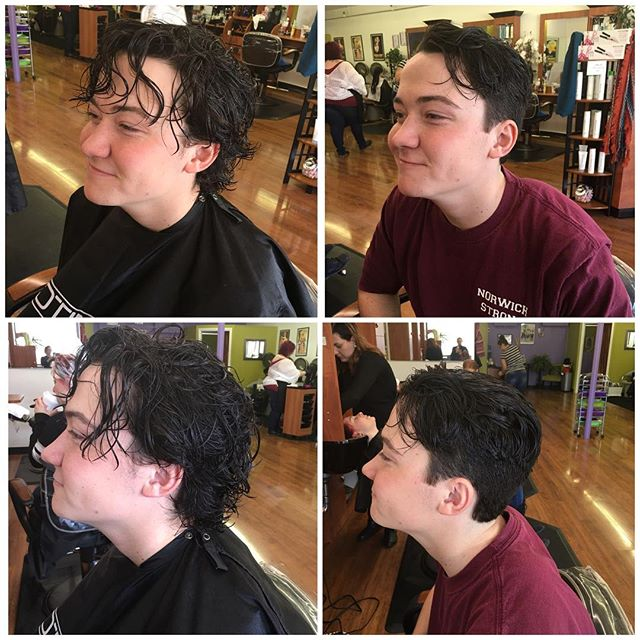 Another happy customer, done by owner Michelle. #menscuts #haircut  #wemakeyoulookgood 💁♂️💇♂️