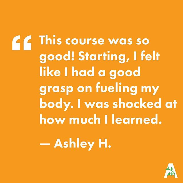 """Before the course, I struggled with eating enough to build muscle while losing fat. ⠀⠀⠀⠀⠀⠀⠀⠀⠀ This course was so good! Starting the course, I felt like I had a good grasp on fueling my body. I was shocked at how much I learned. ⠀⠀⠀⠀⠀⠀⠀⠀⠀ I dropped some pounds, which was definitely a plus, but I saw way bigger changes in my body than I expected. My stomach is flatter, and I've had multiple people comment on noticing more muscle definition. That's a huge goal for me, so I am thrilled! ⠀⠀⠀⠀⠀⠀⠀⠀⠀ Meal prepping is life saving! My whole family ate healthier just from me making a few easy new habits."" — Ashley H. ⠀⠀⠀⠀⠀⠀⠀⠀⠀ 🍏Registration is open for our next online course - join us! 6 weeks // $195 // begins July 8th {link in bio}"