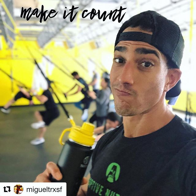 @migueltrxsf repping Adaptive Nutrition and bringing us that #mondaymotivation ⚡️ . . . #Repost @migueltrxsf with @get_repost ・・・ Today I really just wanted to curl up into a ball and relax, but the show must go on! Back in SF and appreciate the training session from @zvw_trxcoach at the @trxtrainingcenter 🤘🏽 #mondaymotivation #monday #fitness #training #trx #fitness #stayfitson