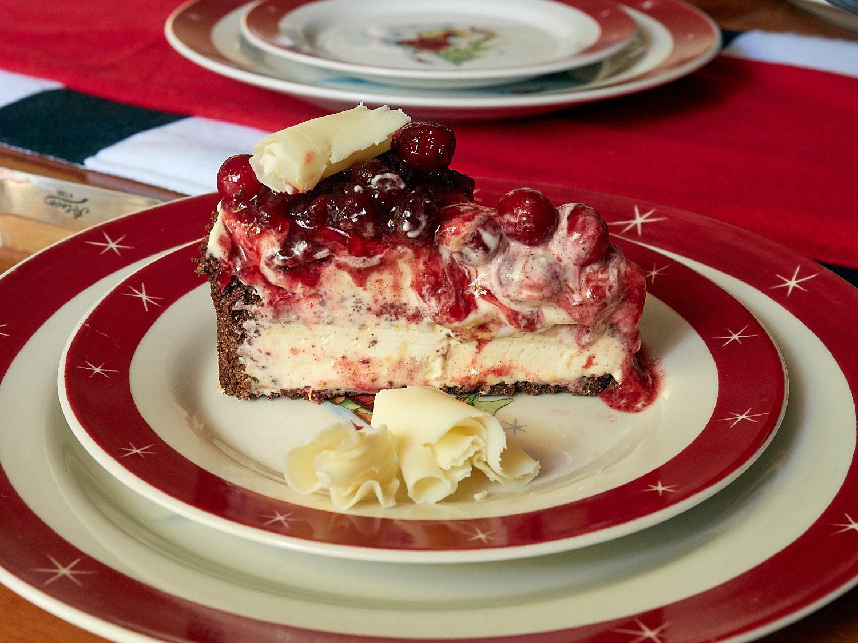 Frozen Grand Marnier Torte - Starting to melt under the lights!