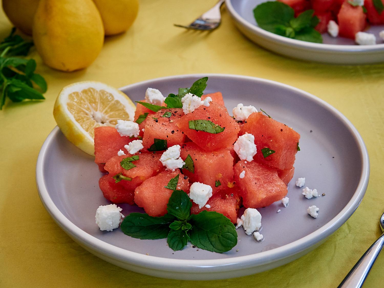 Watermelon, Feta, & Mint Salad