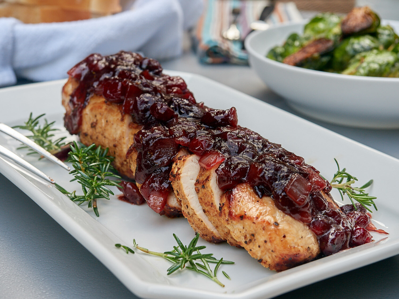 Pork Loin w/Cranberry Sauce