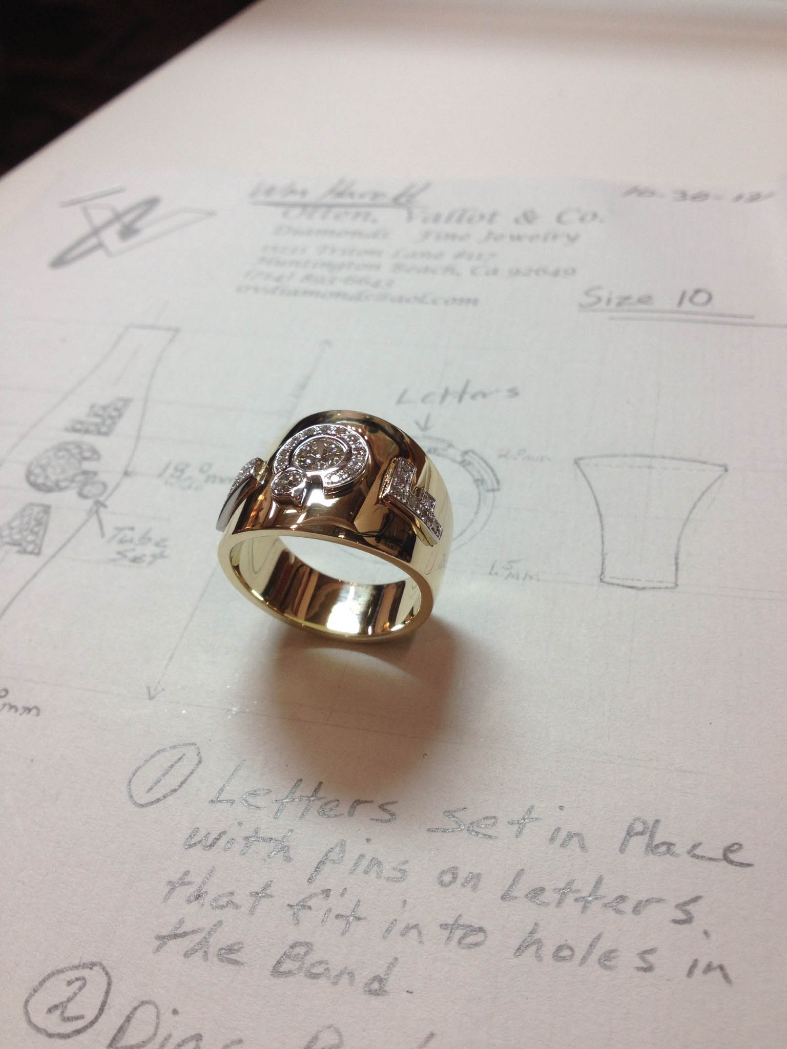 Finished Ring with Sketch