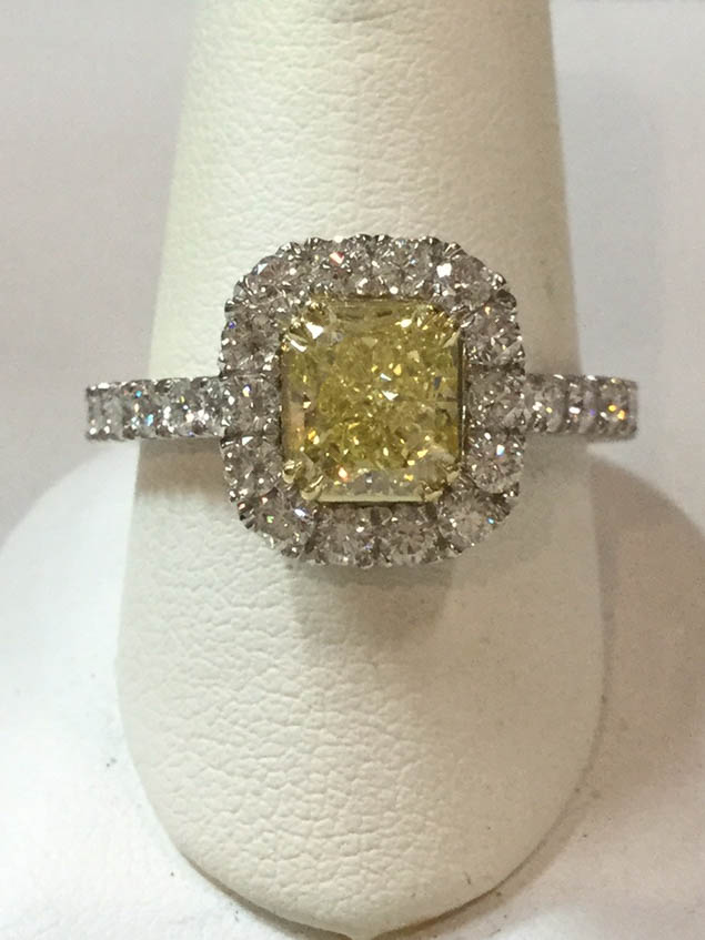 Copy of Canary Diamond Ring