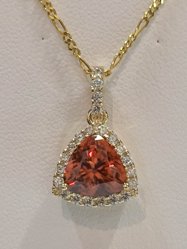Copy of Spessartite and Diamond Pendant