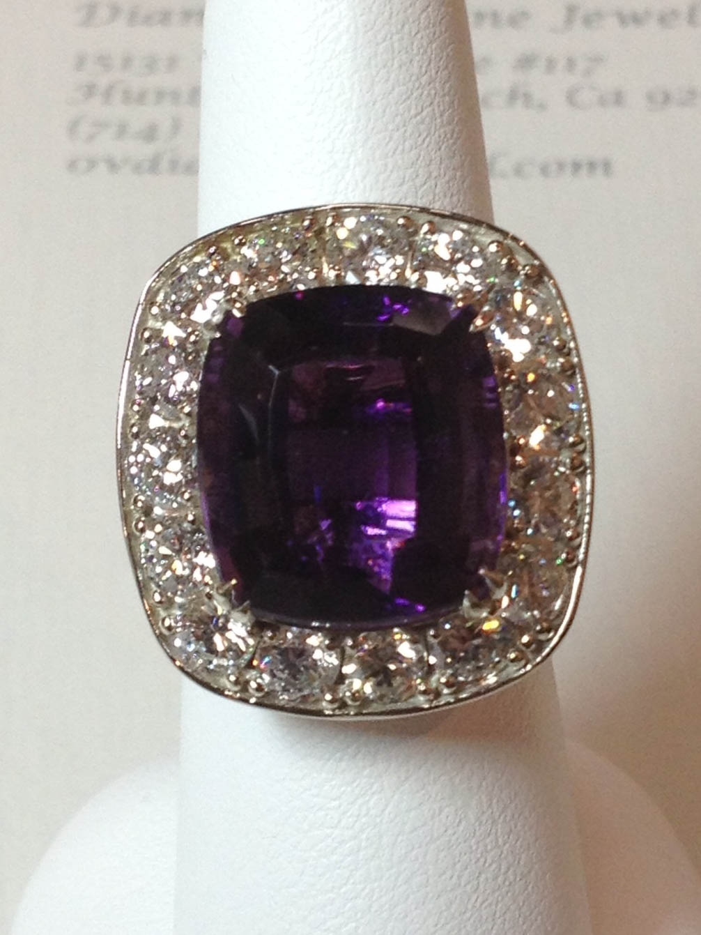 Copy of Amethyst and Diamond Ring