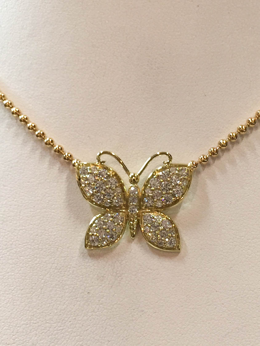 Copy of Diamond Butterfly Pendant