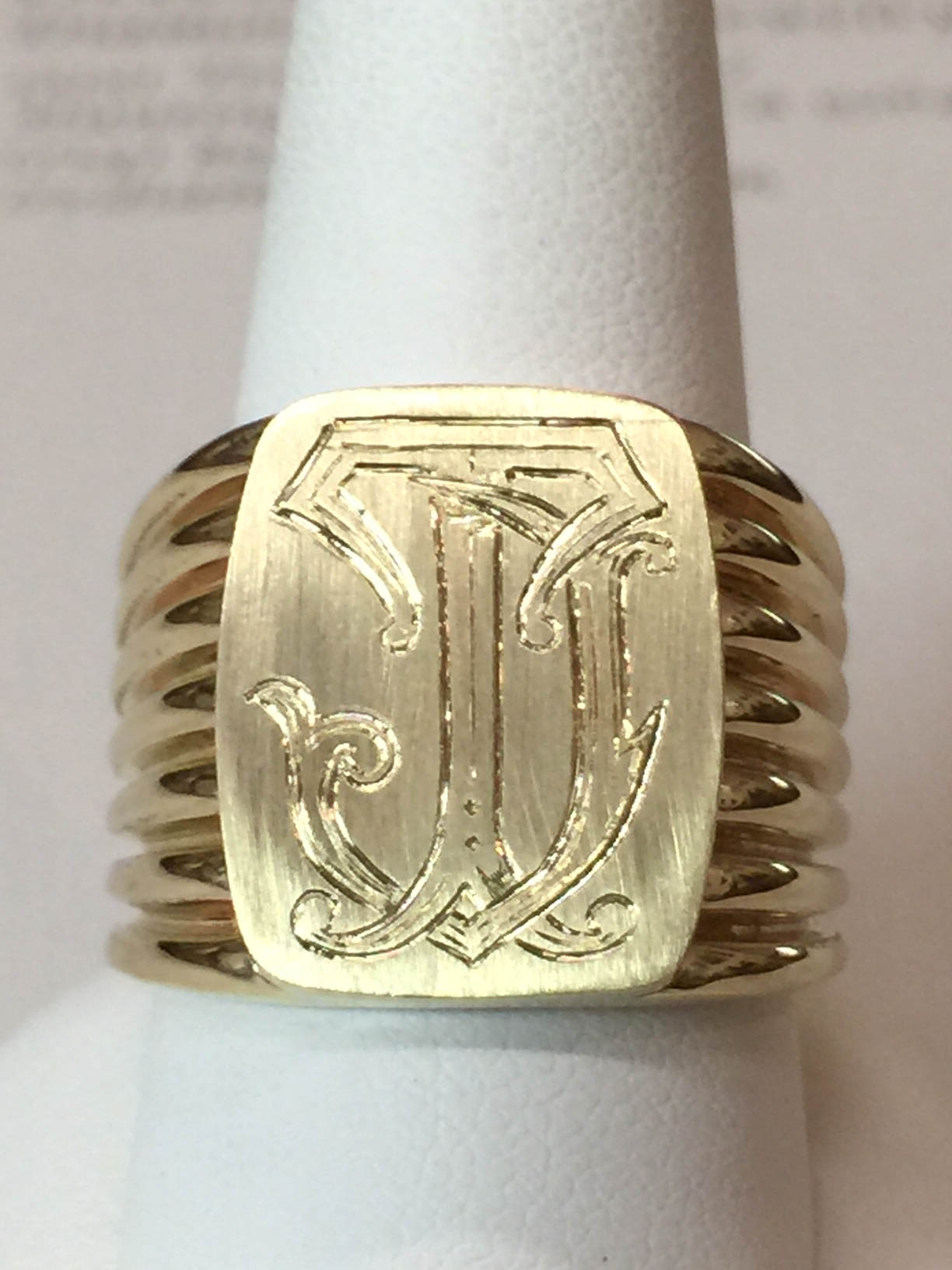 Copy of Monogram Ring, 18kt Gold