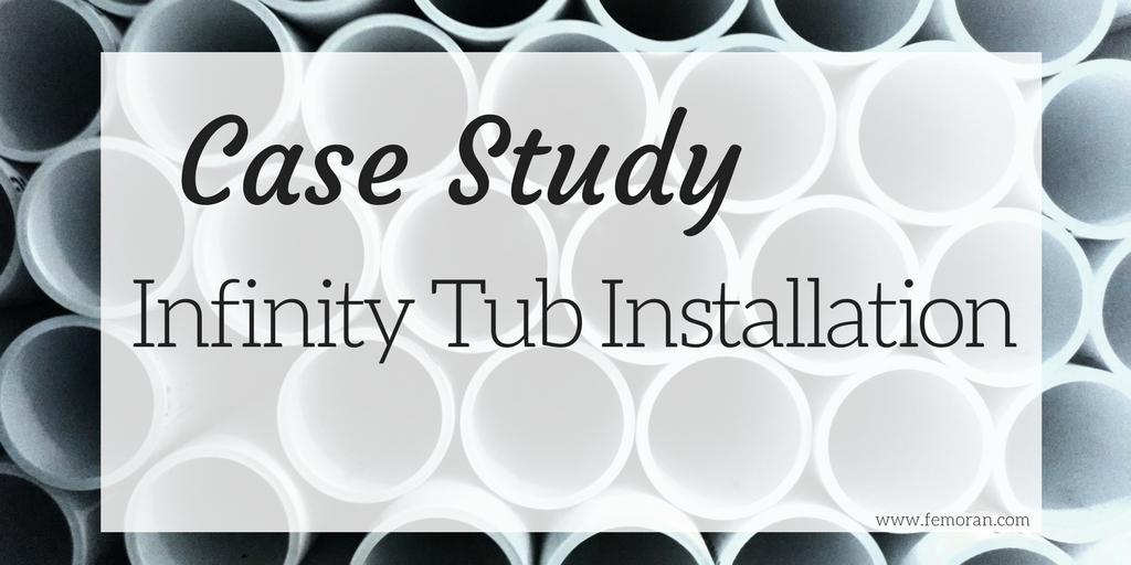 infinity tub installation