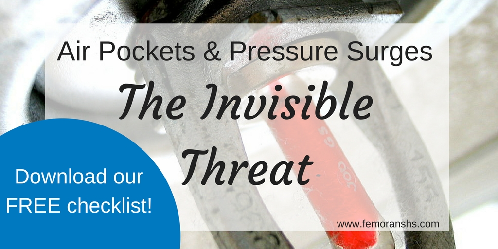 air pockets and pressure surges