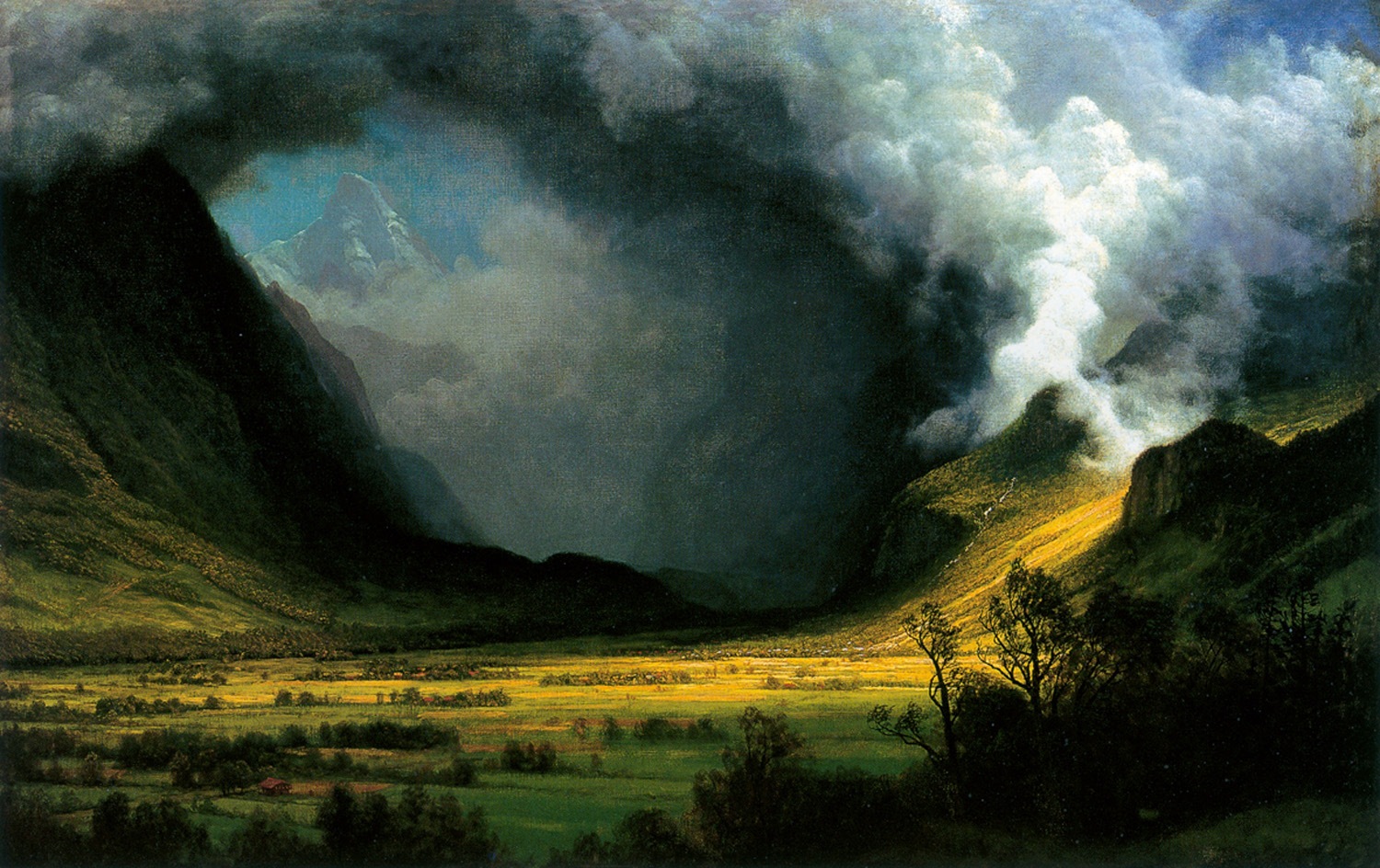 Storm in the Mountains , by Albert Bierstadt, c. 1870, Museum of Fine Arts, Boston.