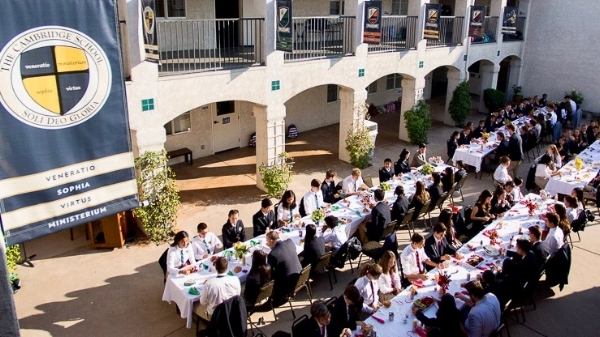 TCS Faculty lunch; Image used with permission by The Cambridge School