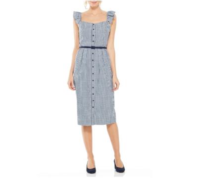 Carly Gingham Sheath Dress