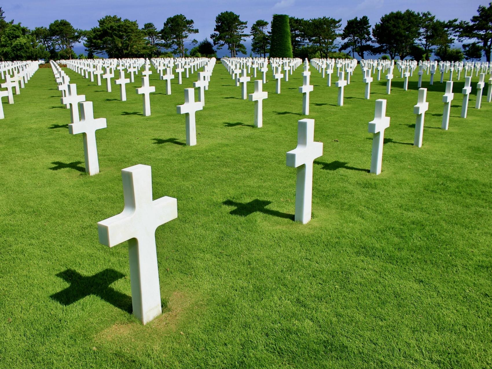Normandy American Cemetery overlooking Omaha Beach