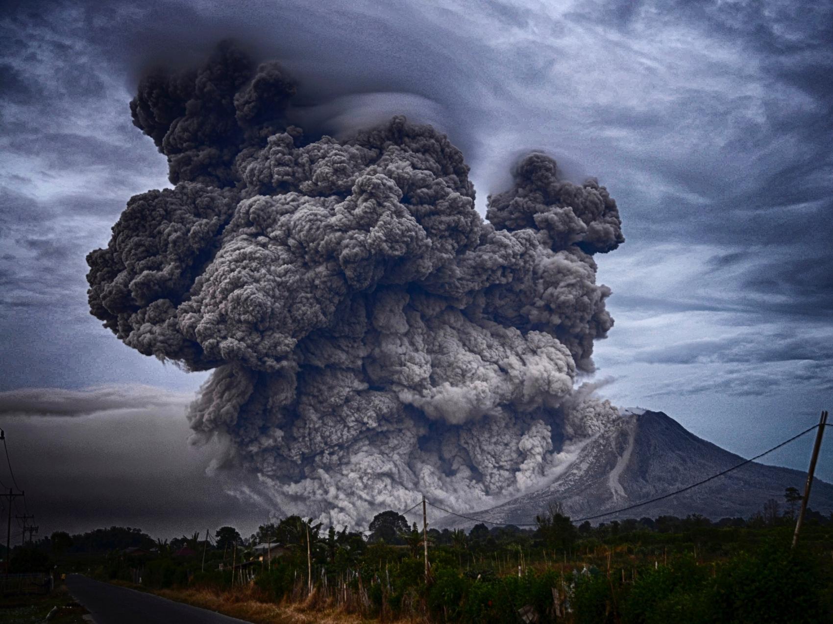 Mount Sinabung, Indonesia; photo by  Yosh Ginsu  on  Unsplash