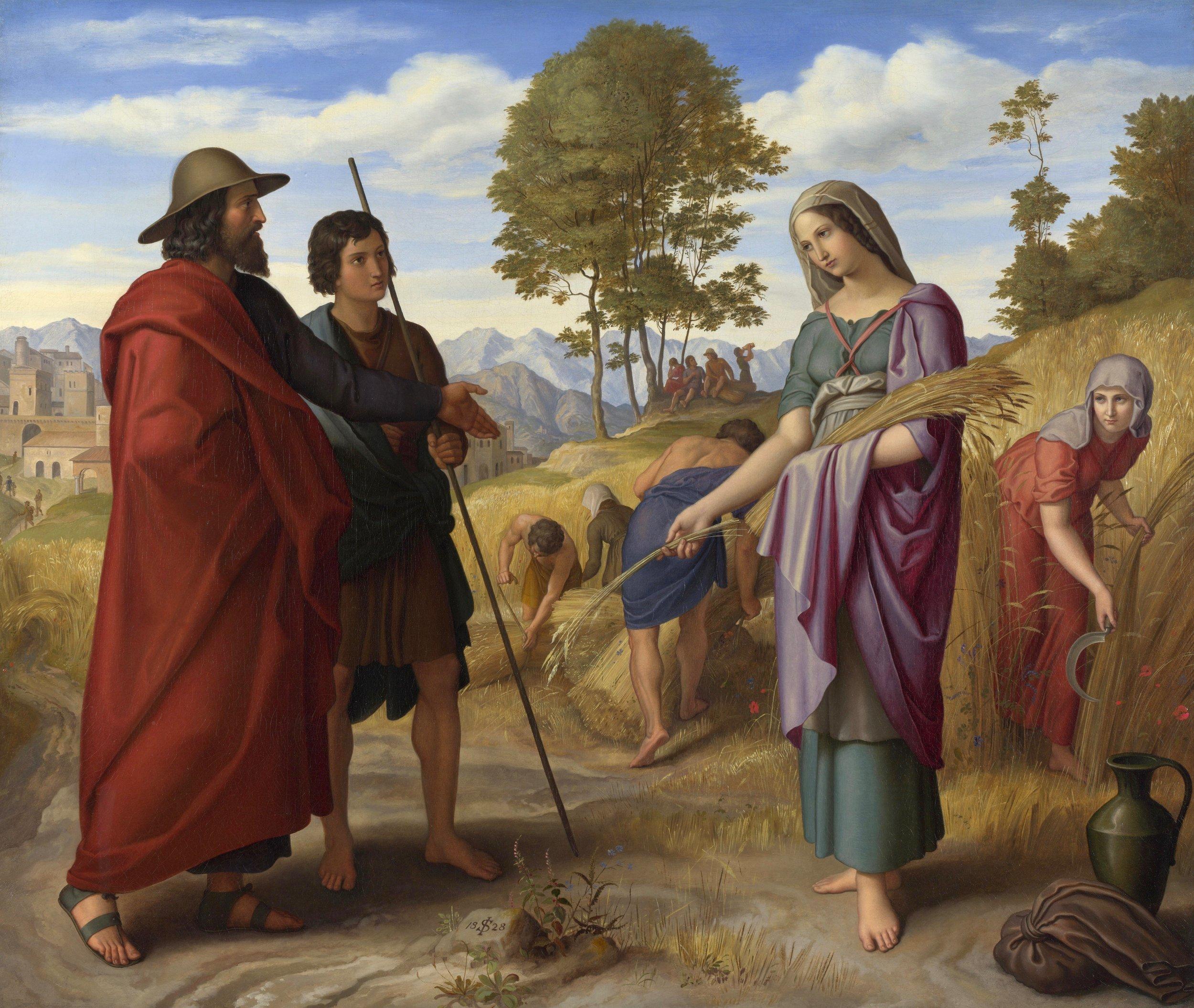 Ruth in Boaz's Field  by Julius Schnorr von Carolsfeld; National Gallery, United Kingdom. Image from  Wikimedia Commons .