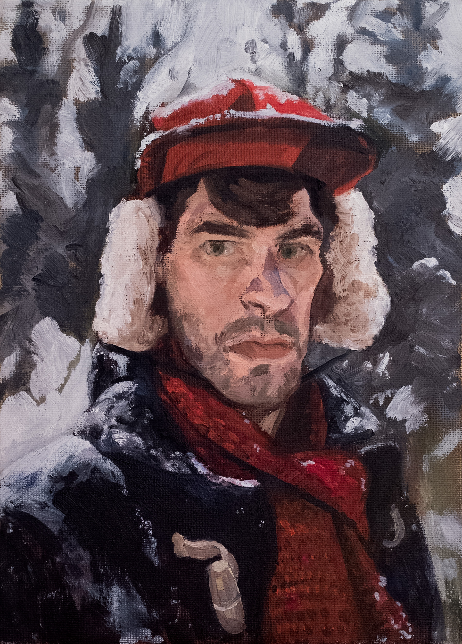 Self-Portrait in Winter