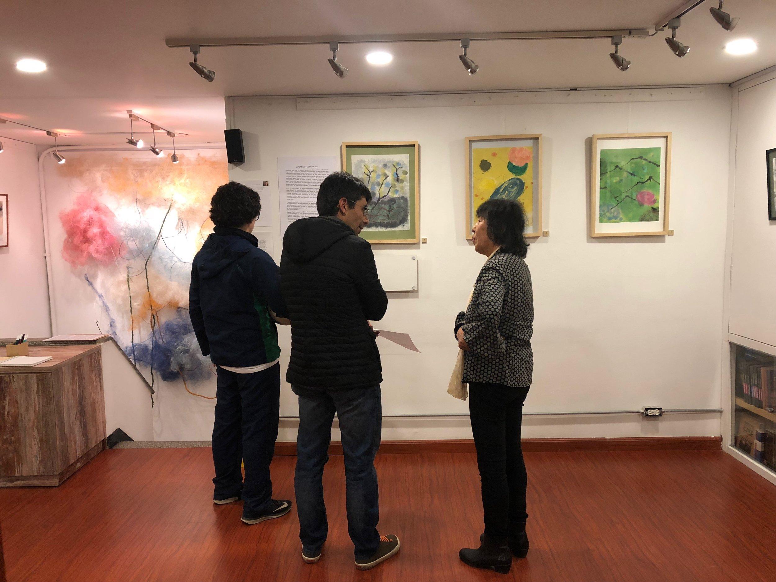 Exposición - Librería Luvina, Bogotá. Octubre 2018