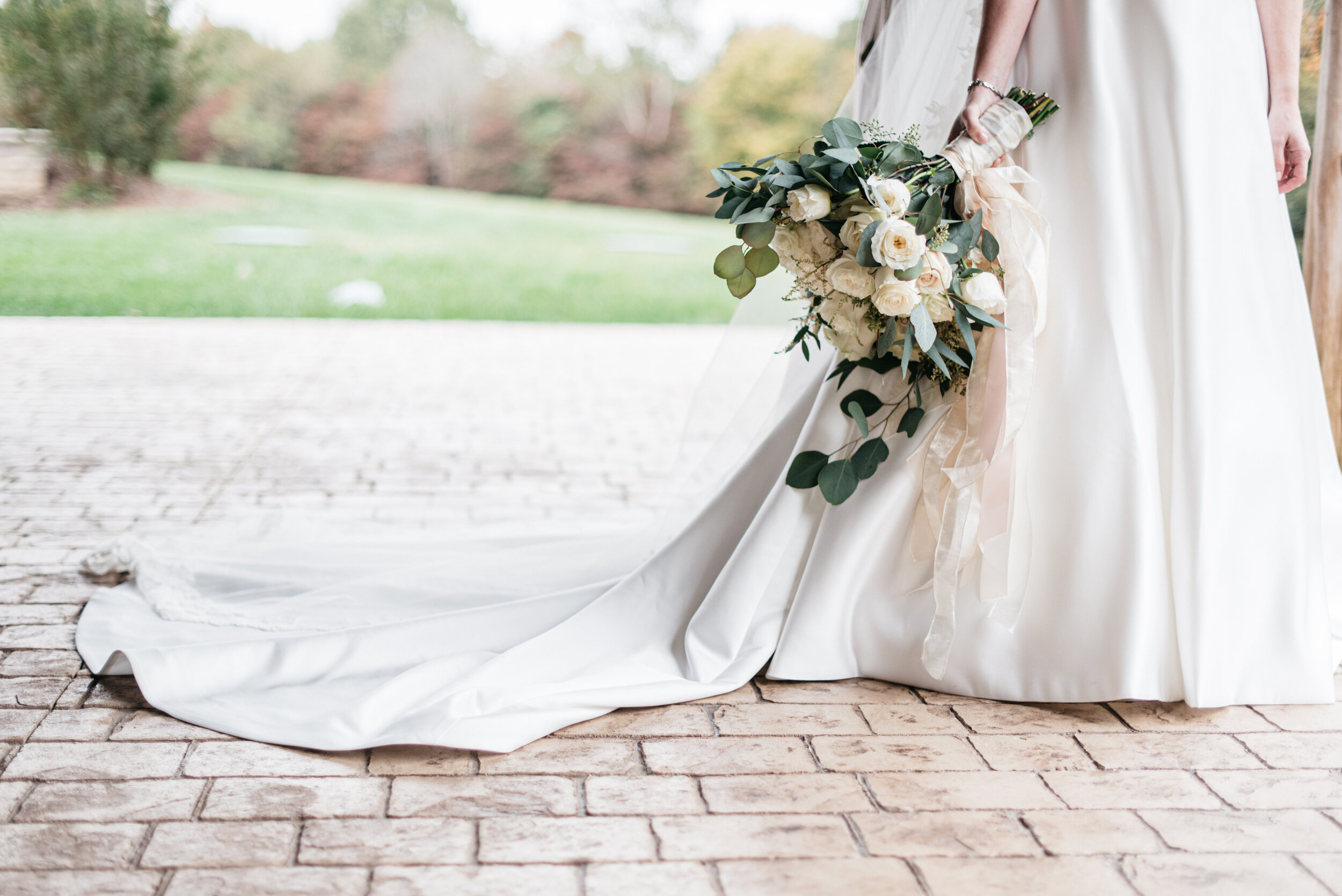 Eucalyptus and White Roses Bouquet