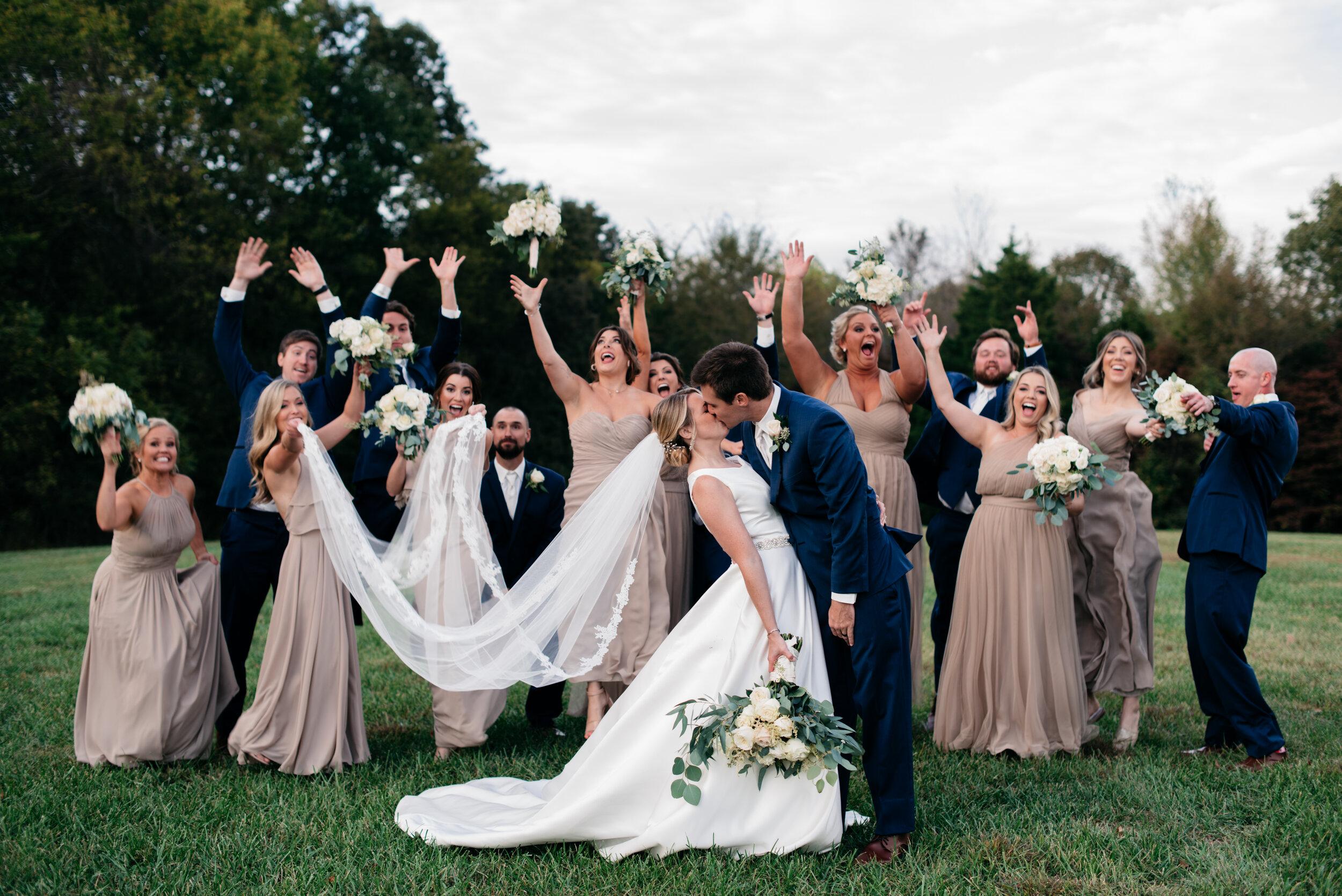 Wedding Party Cedars at Carr Farm