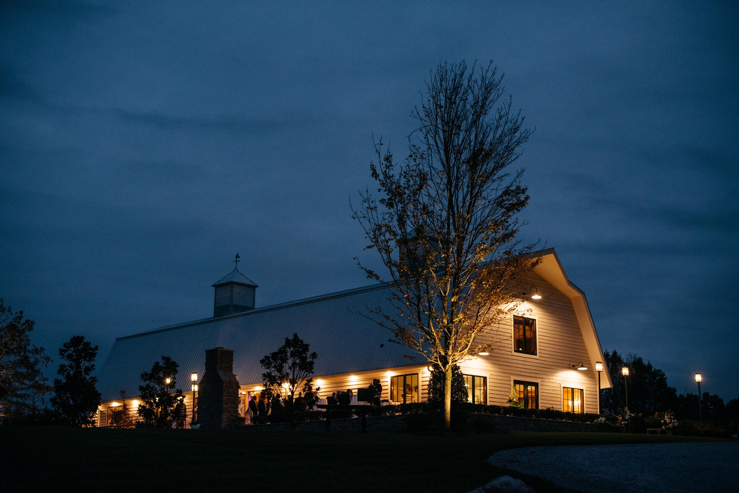 Cedars at Carr Farm Venue at Night