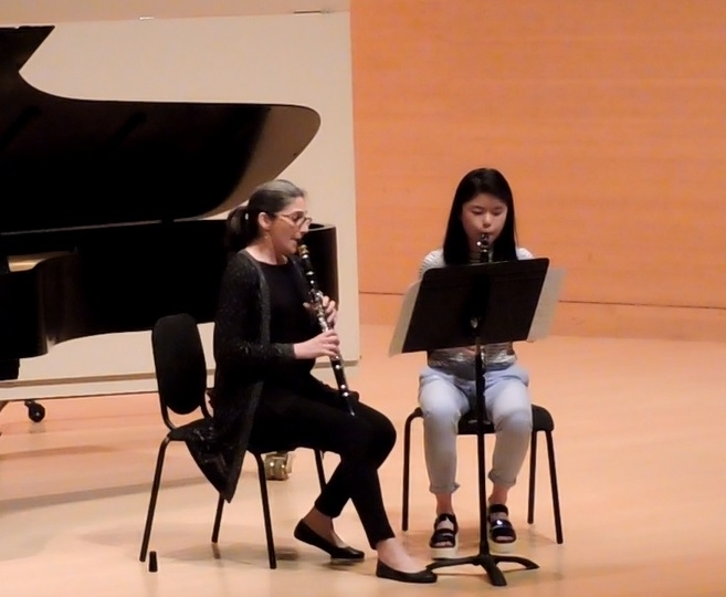 Performing with a student on a CMS recital.