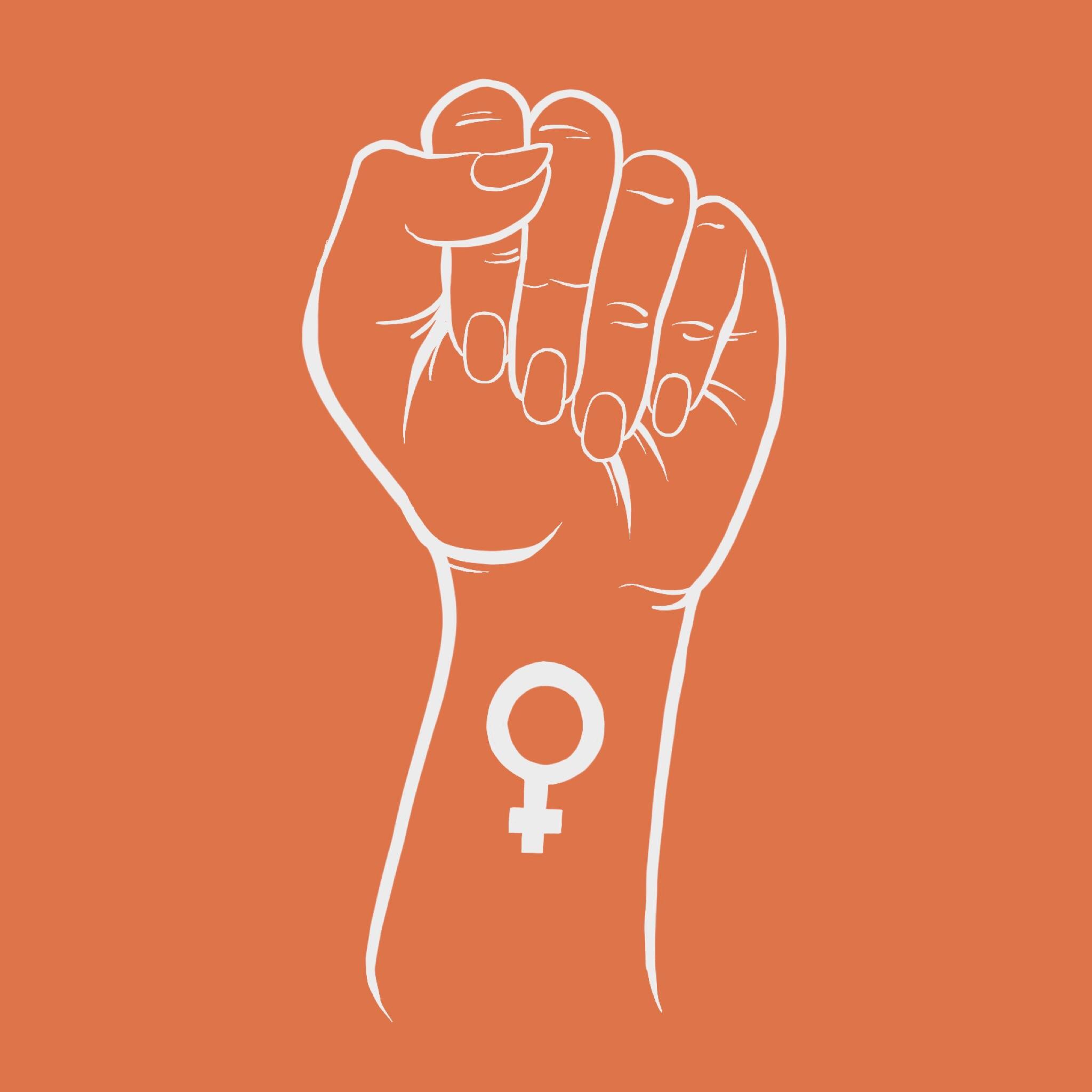 raised feminist fist
