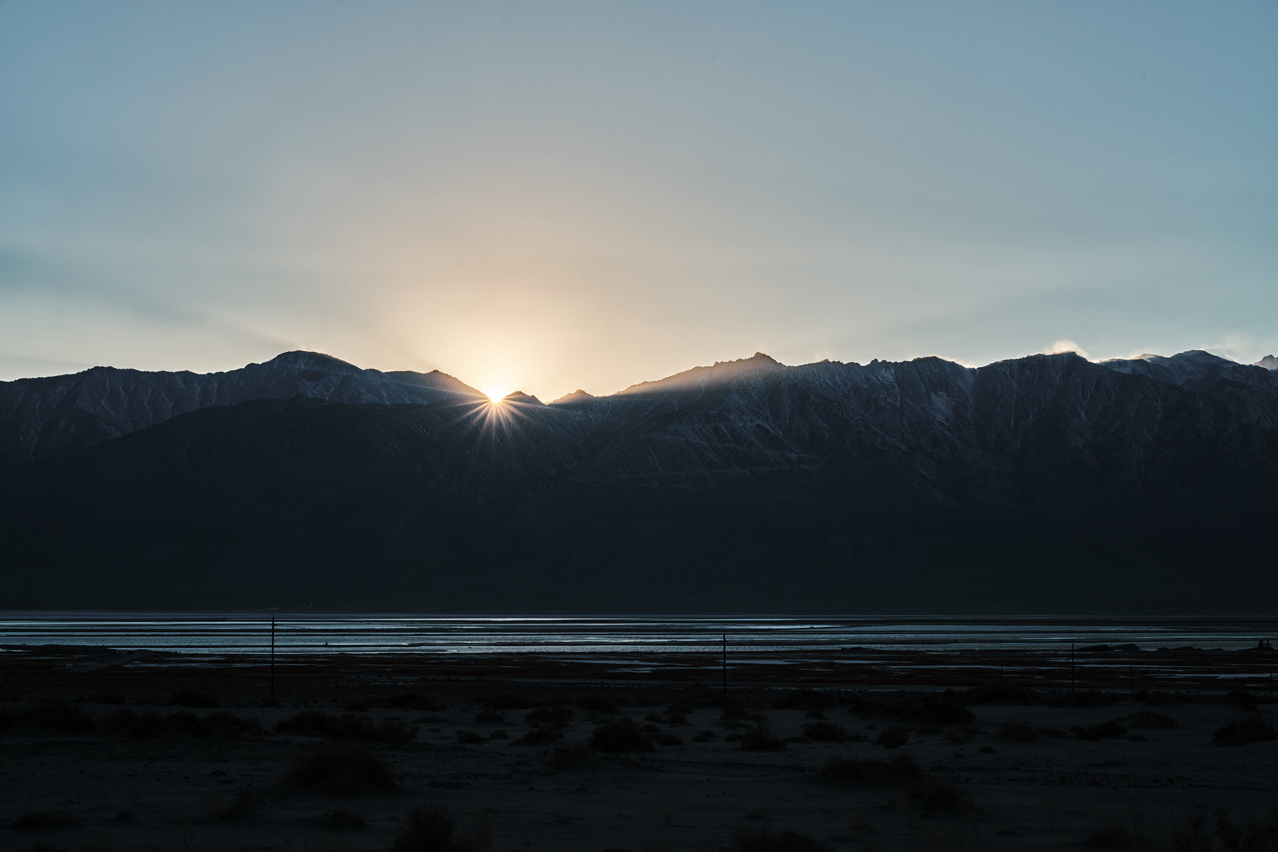 We were literally chasing the sun's rays as they moved over to the mountains...