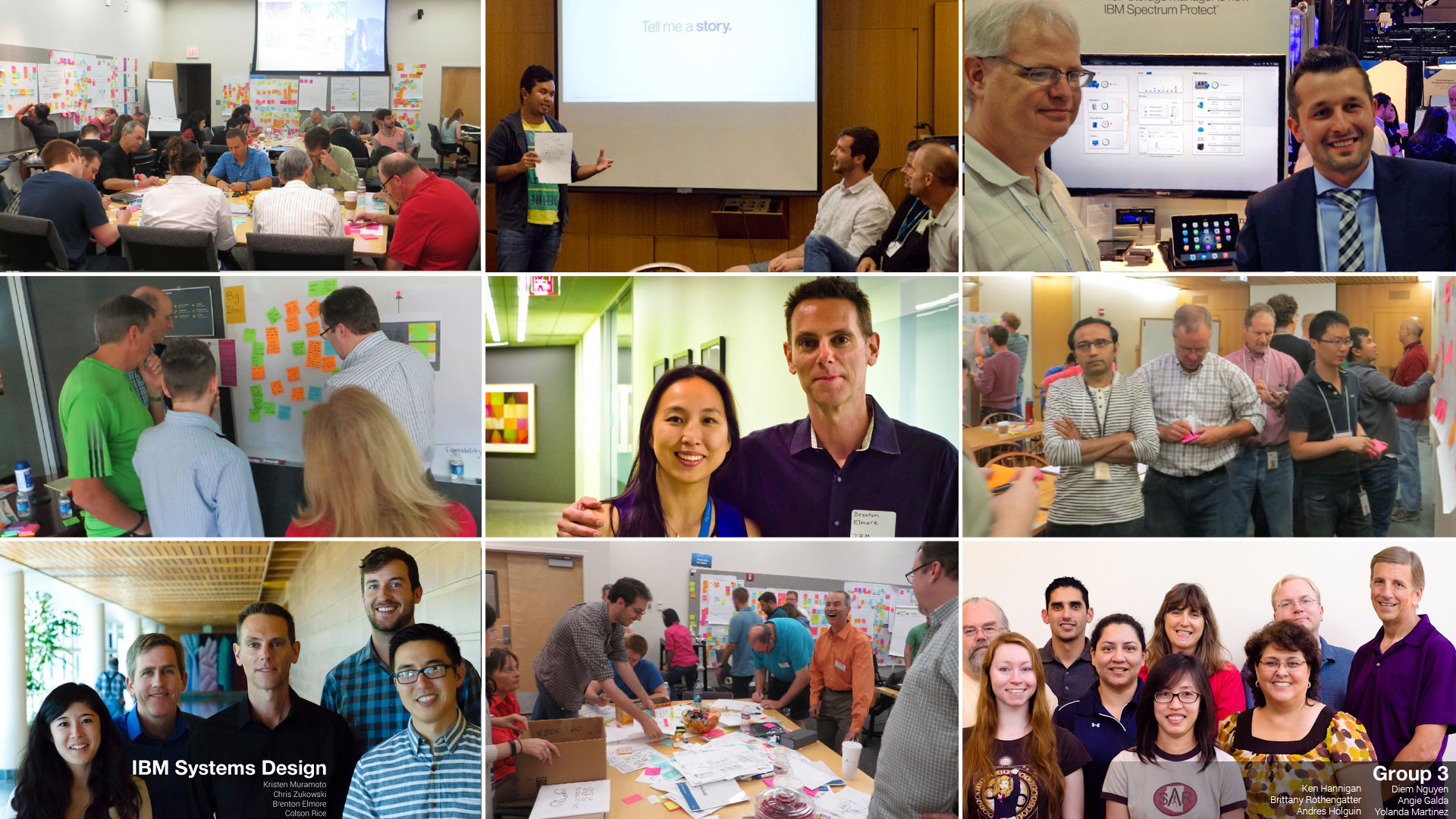 Design Thinking workshops with our teams, executive stakeholders, and IBM customers.