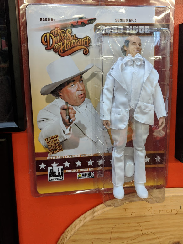 Making Boss Hogg oddly skinny in doll form? A fascinating choice.