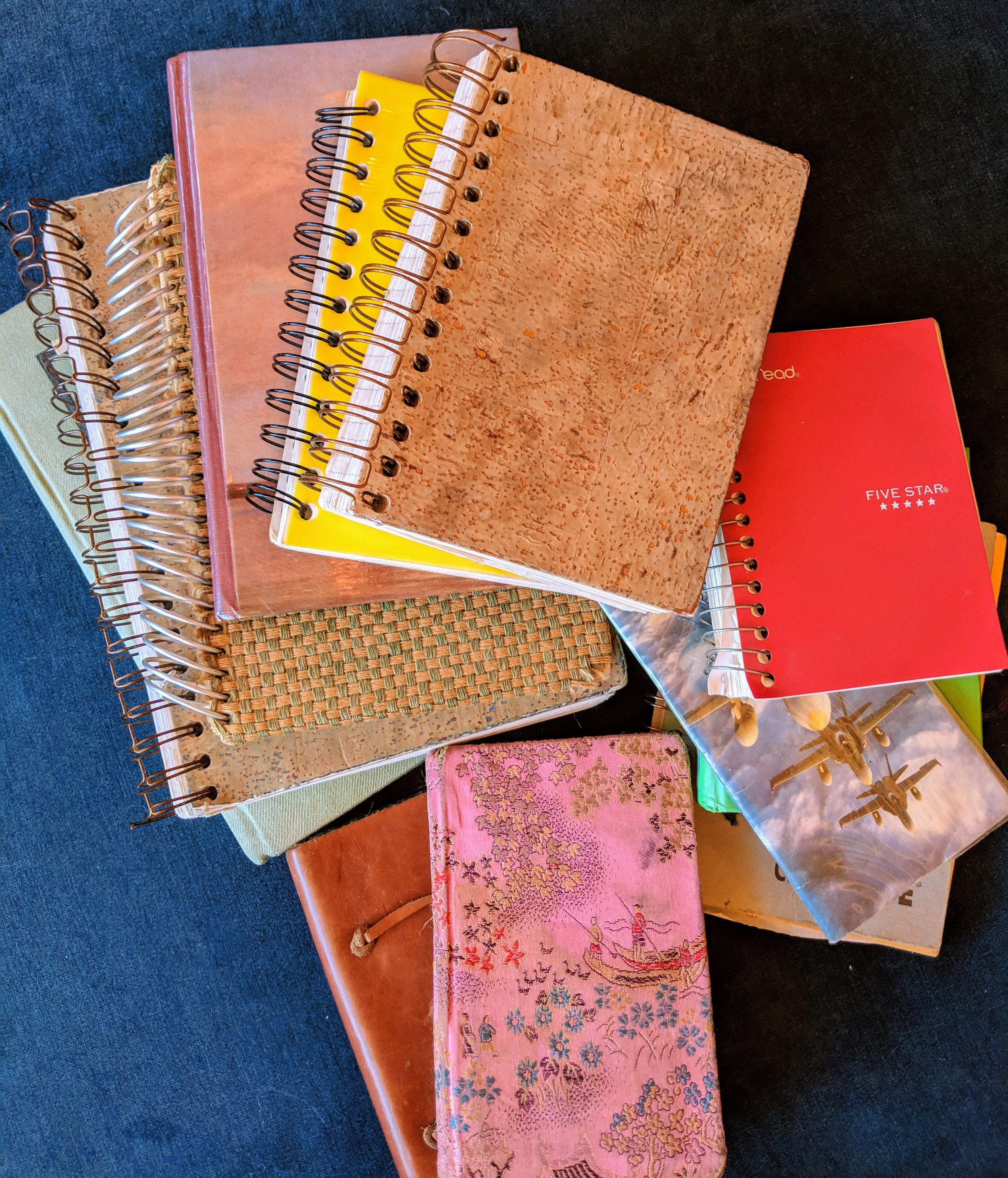 I have a clear preference for spiral-bound journals. Also, in case you were wondering, these journals are equal parts moany and hilarious.