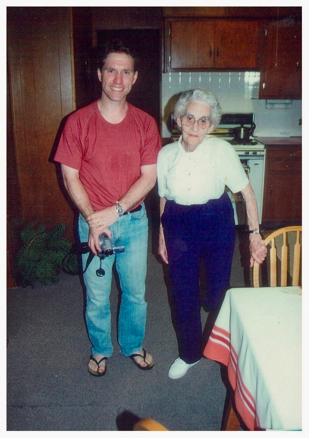 Mrs. Lura Long, wife of Cpl. John Long, and Nathan Long, whose father was the elder brother of Cpl. John Long.. Photo courtesy of Nathan Long.