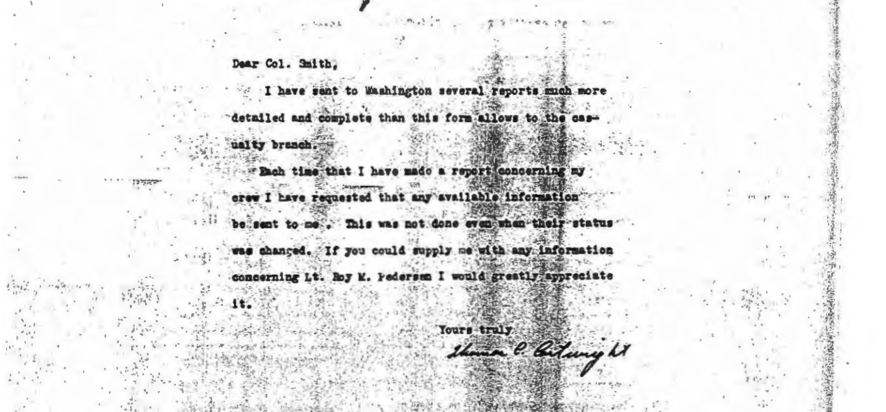 Dr. Cartwright's informative letters to the War Department appear to have been unanswered. This letter was obtained by Barton Bernstein from a Freedom of Information Act request.