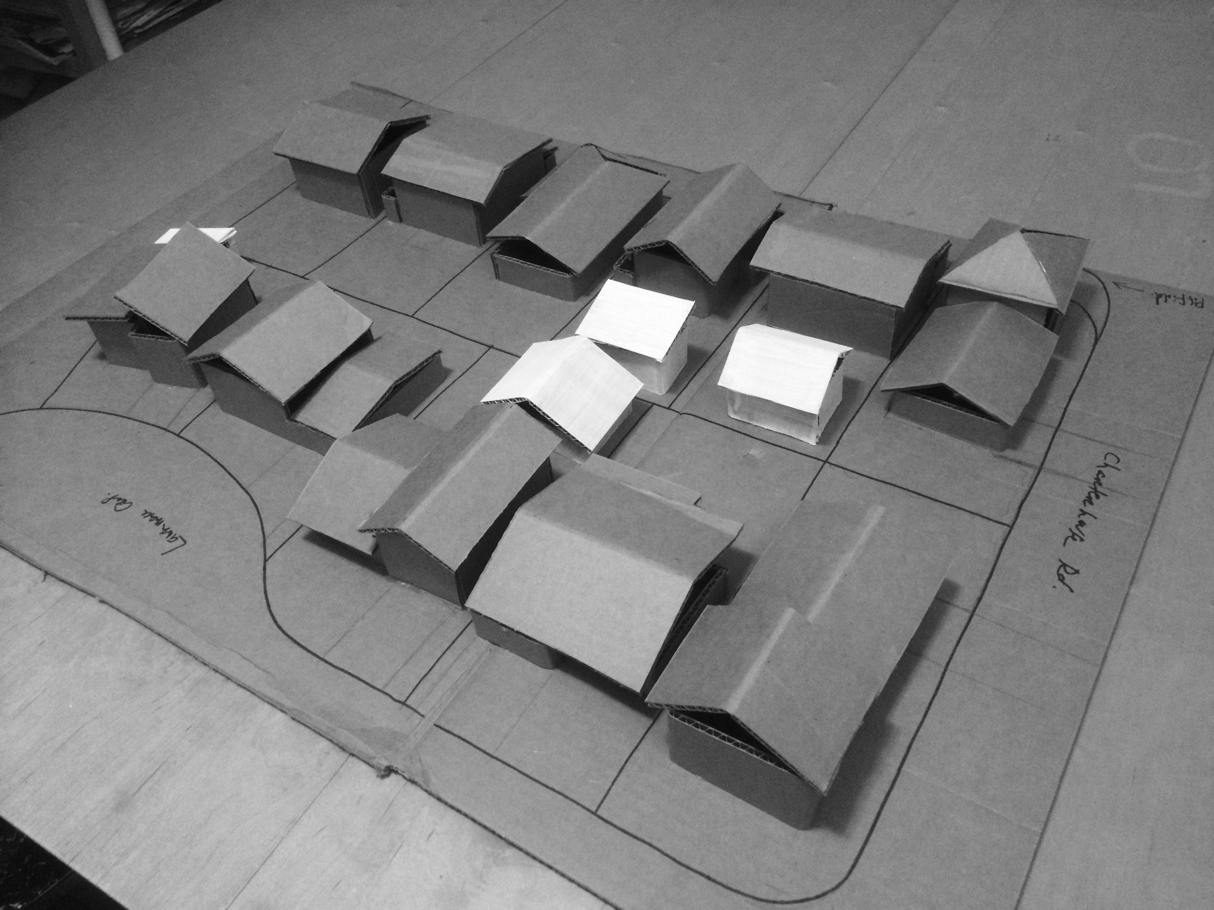 Model for gauging shading and overlook in garden suites