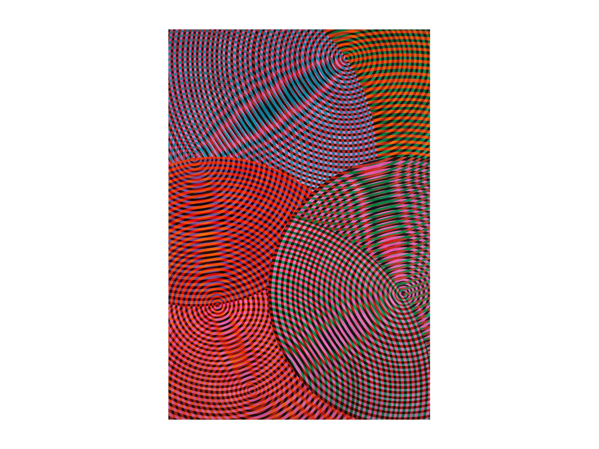 John Aslanidis   Sonic no.58 ,2017 oil and acrylic on canvas 182 x 133cm