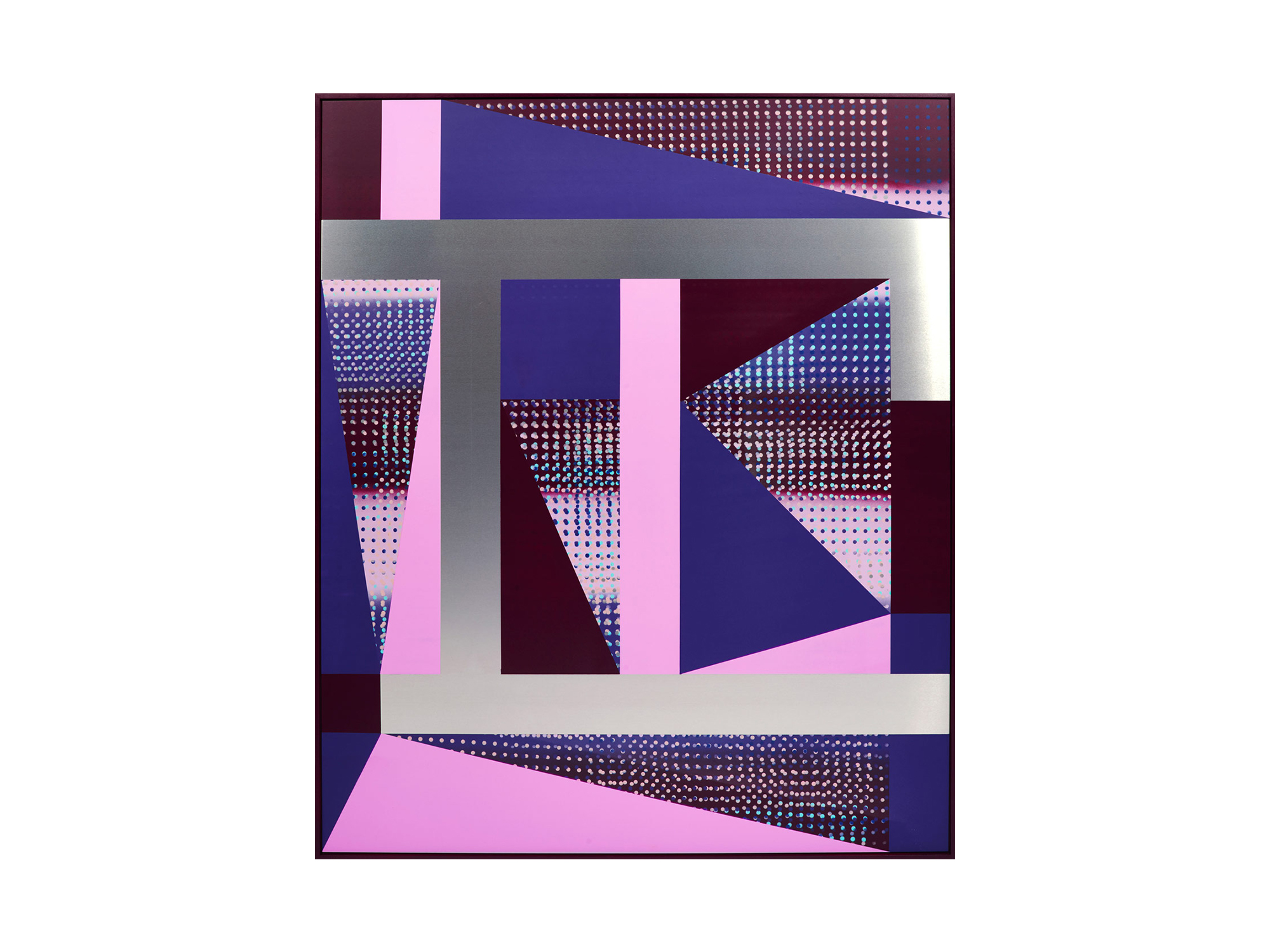 Will Cooke   It's Here, It's There, It's Everywhere ,2016 primer, spray paint on aluminium panel, painted frame 120 x 100cm   ARTIST BIO