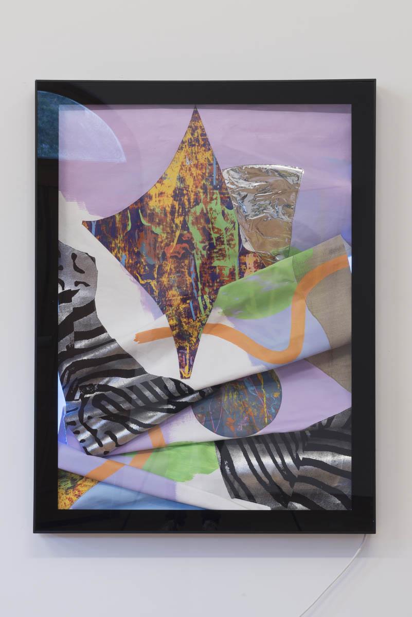 Marc Freeman   Station Painting #1 , 2016 mixed media on canvas in light-box 120 x 90cm   ARTIST BIO