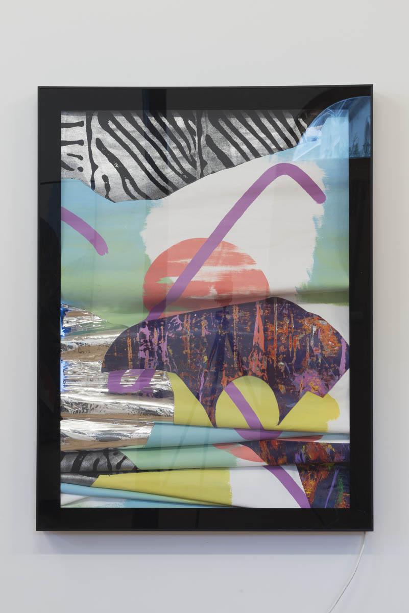 Marc Freeman   Station Painting #2 , 2016 mixed media on canvas in light-box 120 x 90cm   ARTIST BIO