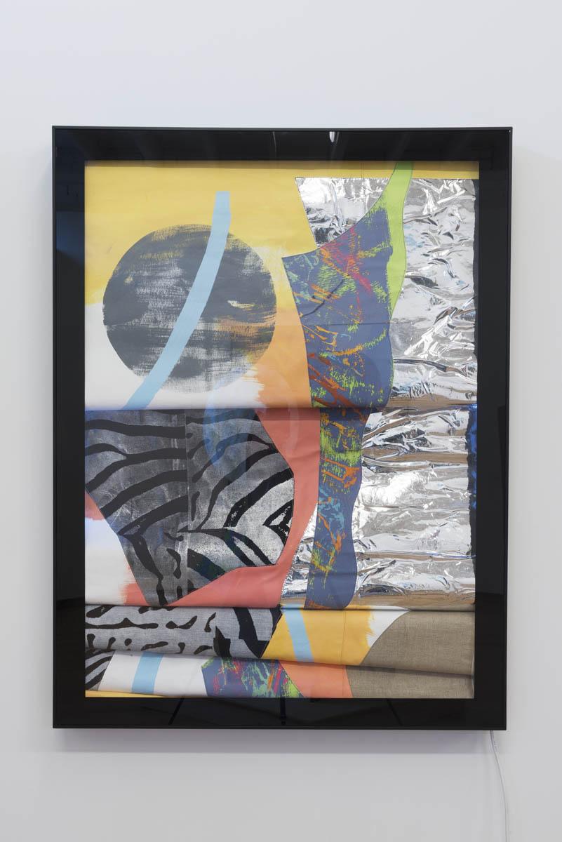 Marc Freeman   Station Painting #3 , 2016 mixed media on canvas in light-box 120 x 90cm   ARTIST BIO