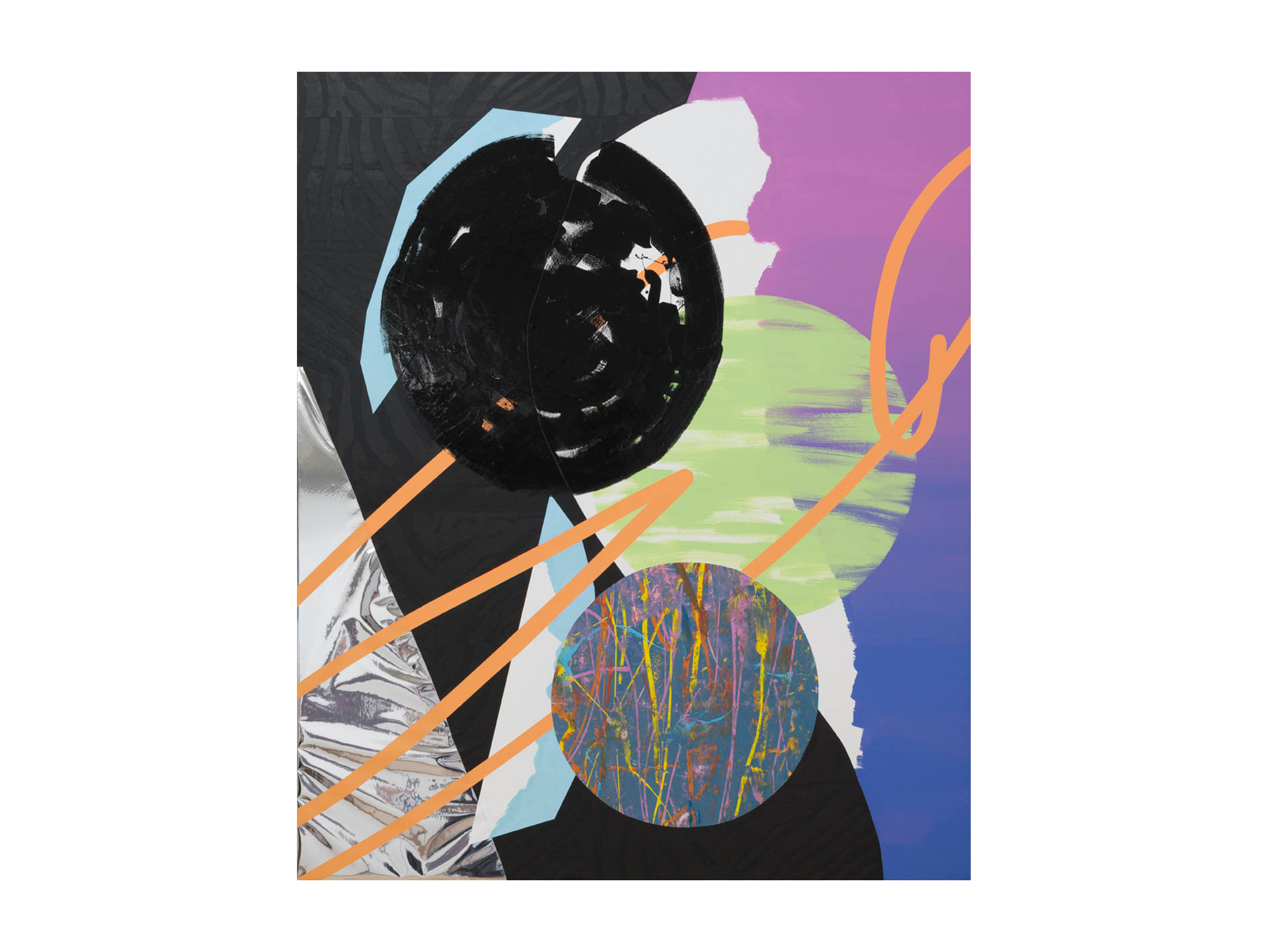 Marc Freeman   Effective Frequency , 2016 mixed media on canvas 153 x 183cm   ARTIST BIO